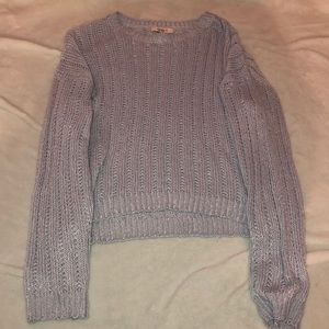 Small knit baby blue sweater